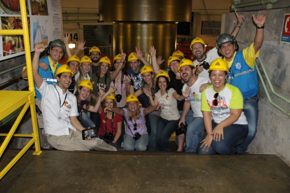 Blogueiros no Circuito Especial da Itaipu Binacional