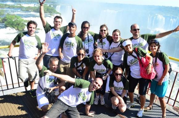 Turma do 2º BlogTurFoz nas Cataratas do Iguaçu