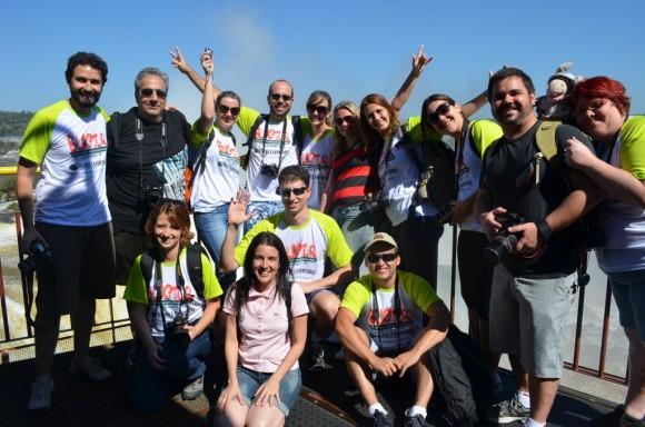 Blogueiros do 1º BlogTurFoz nas Cataratas do Iguaçu