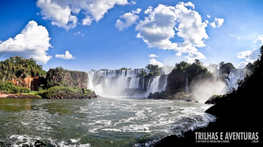 Uma das novas maravilhas do mundo natural vista do lado Argentino