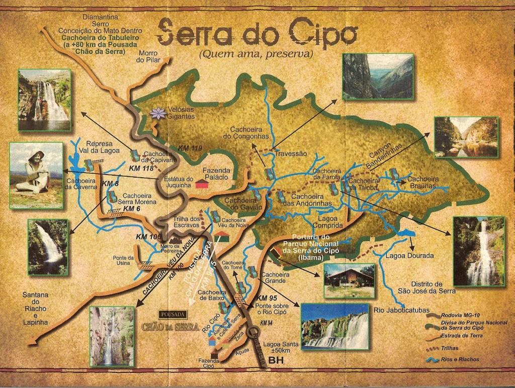 Mapas Da Serra Do Cipo Mg Trilhas E Aventuras