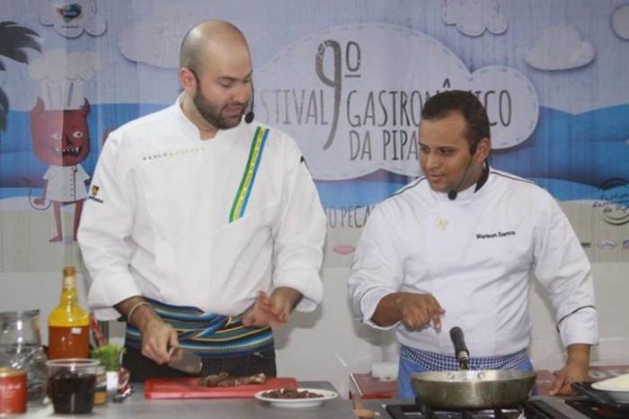 Chefs Paulo Machado e Warison Santos