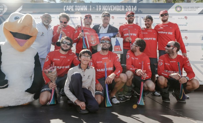 November 7, 2014. MAPFRE on stage in Cape Town in 7th place.
