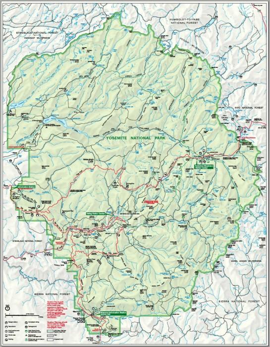 Karte_Yosemite-Nationalpark