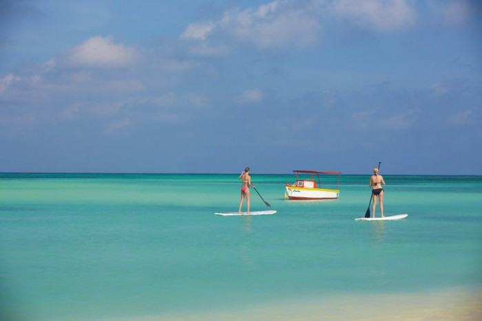 Stand up Paddle em Aruba