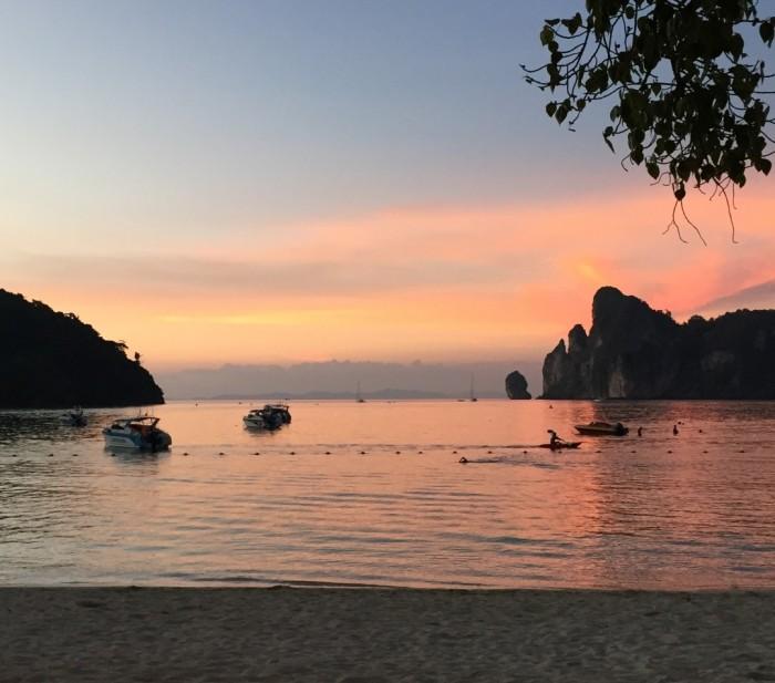 Pôr-do-sol em Phi Phi Island