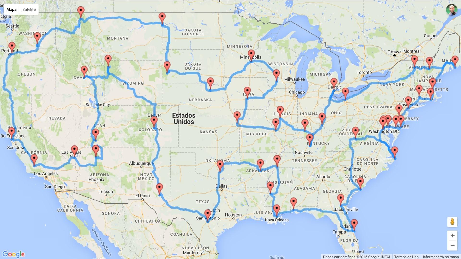 Rota perfeita para uma Roadtrip nos EUA