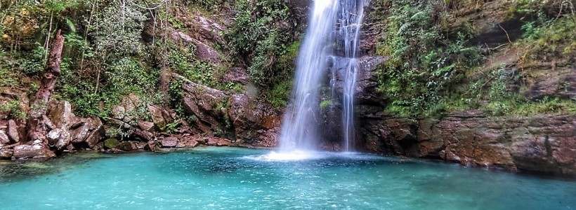 Cachoeira Santa Bárbara na Chapada dos Veadeiros - GO
