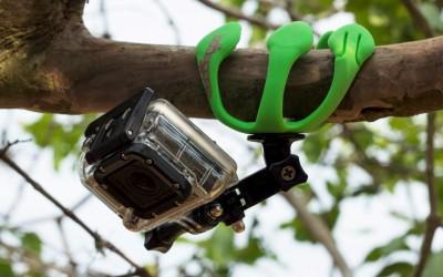 Gekkopod com uma GoPro na árvore