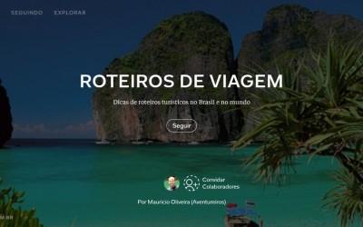 Roteiros de Viagem: nosso maior sucesso de páginas flipadas e seguidores