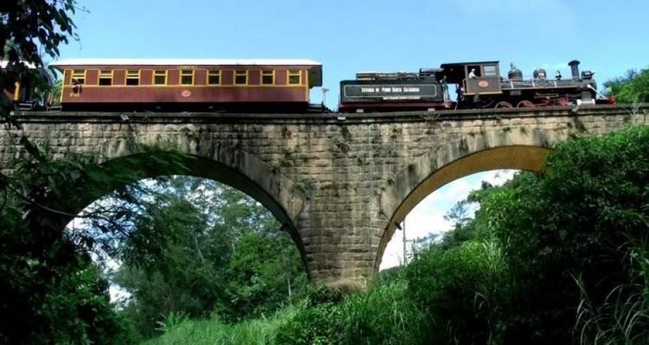 Trem do Vale Europeu, SC. Foto: divulgação