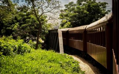 Trem turístico na cidade de São João del Rei, MG - Foto: Renan Carvalhais