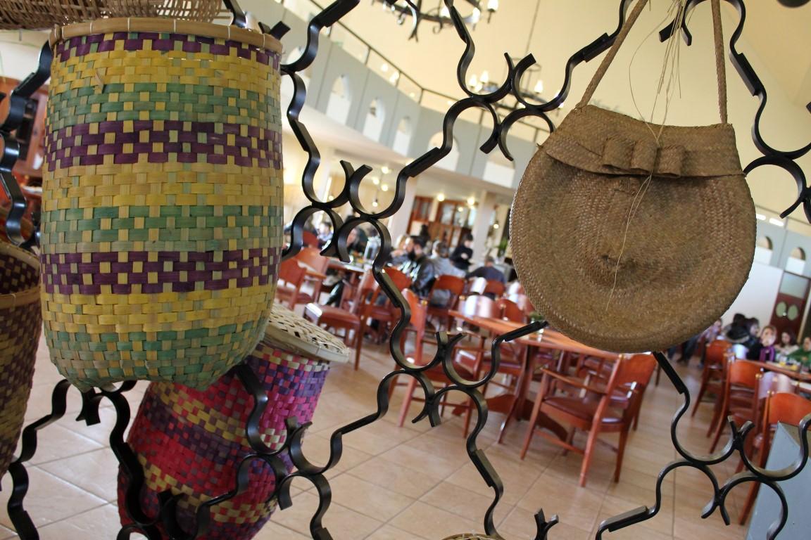 Artigos de decoração feitos manualmente pelos índios - Tenondé Park Hotel