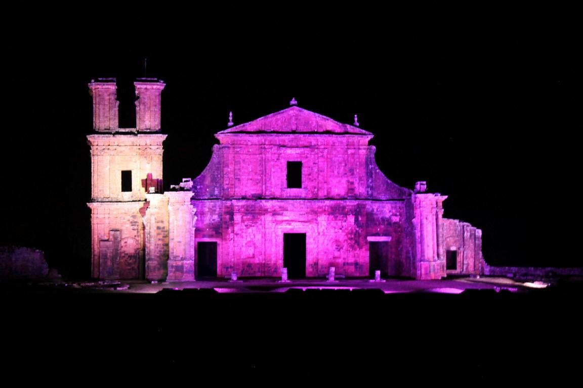 Espetáculo Som e Luz nas Ruínas da Catedral de São Miguel das Missões