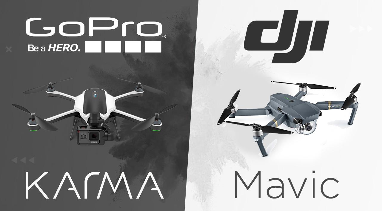 GoPro Karma X DJI Mavic A Batalha Dos Drones Portateis