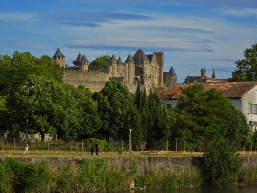 CANAL DO MIDI - Chegada na cidade de Carcassonne