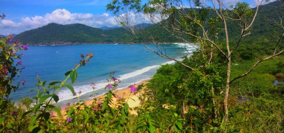 Praia do Sono - Trilha para Ponta Negra - Primeira subida difícil, conseguimos ver o Sono