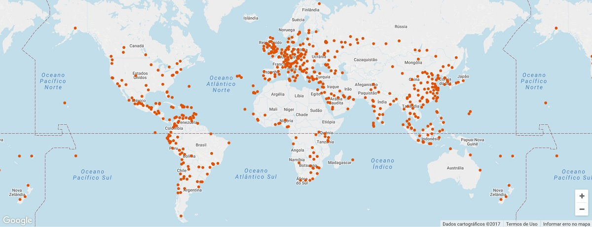 Priority Pass - Mapa das Salas VIP dos Aeroportos do mundo