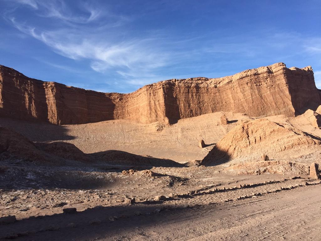Valle de La Luna e seus paredões de rocha
