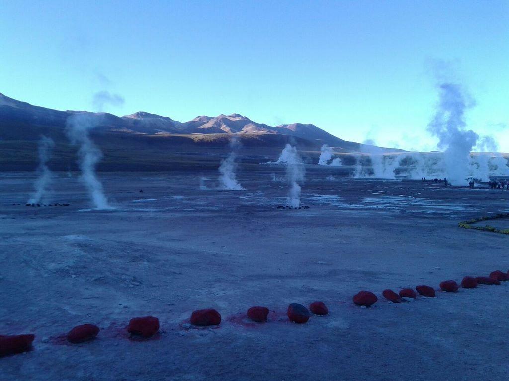 Geyser e seus gases quentes