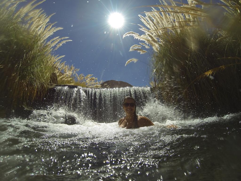 Uma das 8 piscinas e a difícil missão de ir embora