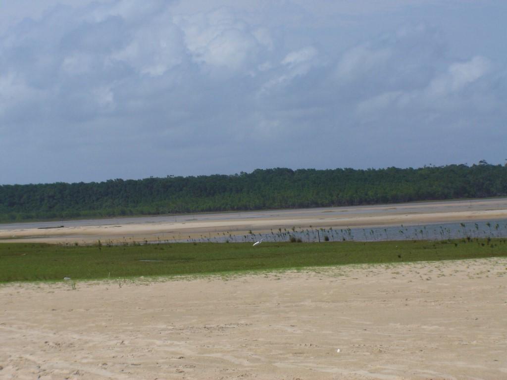 Praia de Goiabal na Ilha de Marajó