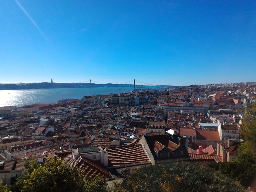 Lisboa vista do alto do Castelo de São Jorge