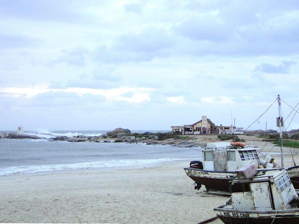 Praia dos Pescadores em Punta del Diablo