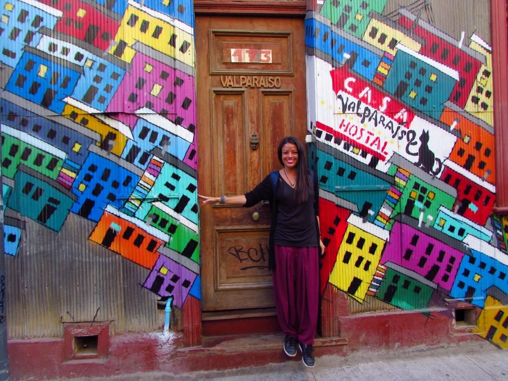 Passeando pelas ruas de Valparaíso, no Chile