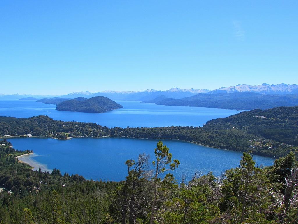 Vista do Lago Nahuel Huapi desde o Cerro Campanário