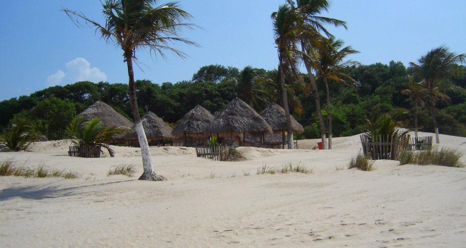 Uma das belas praias da Ilha de Marajó