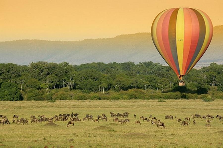 Passeios de balão em Maasi Mara, Quênia