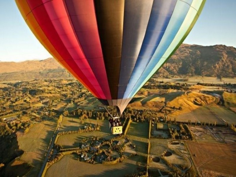 Passeios de balão em Queenstown, Nova Zelândia