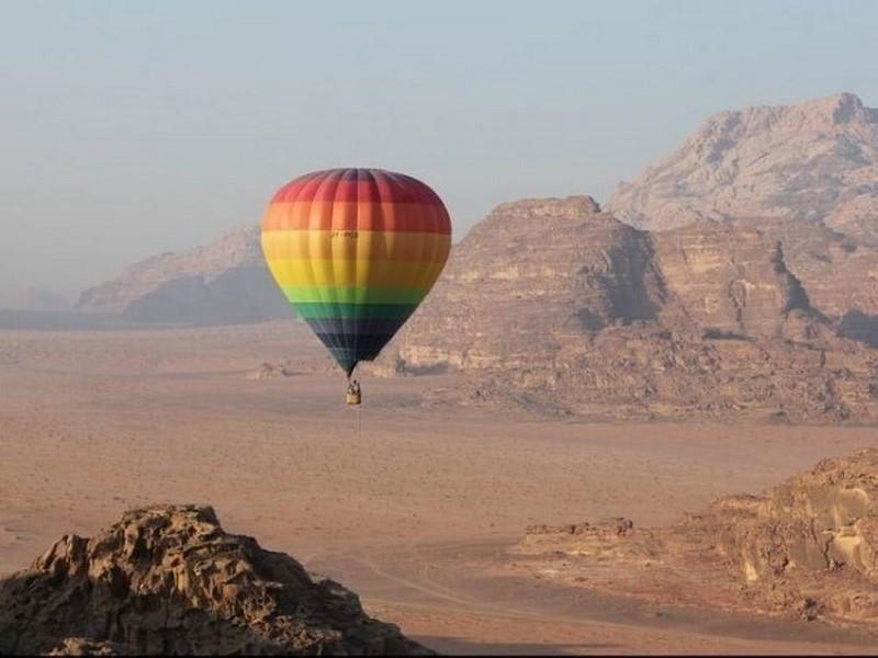 Passeios de balão em Wadi Rum, Jordânia