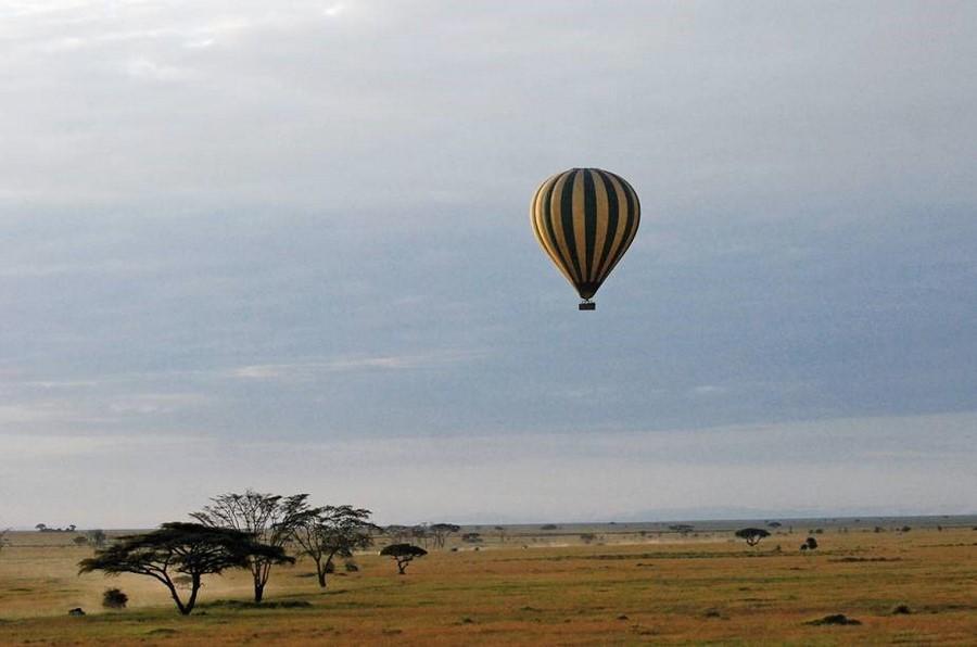 Passeios de balão no Serengeti, Tanzânia