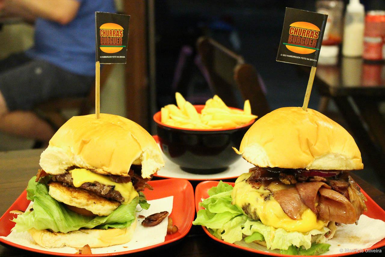 Super hambúrgueres do Churras Burguer, em Arraial do Cabo