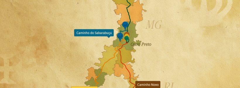 Mapa do Roteiro pela Estrada Real