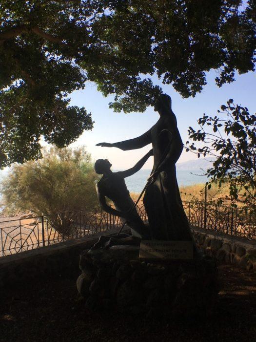 Representação de Jesus e Pedro