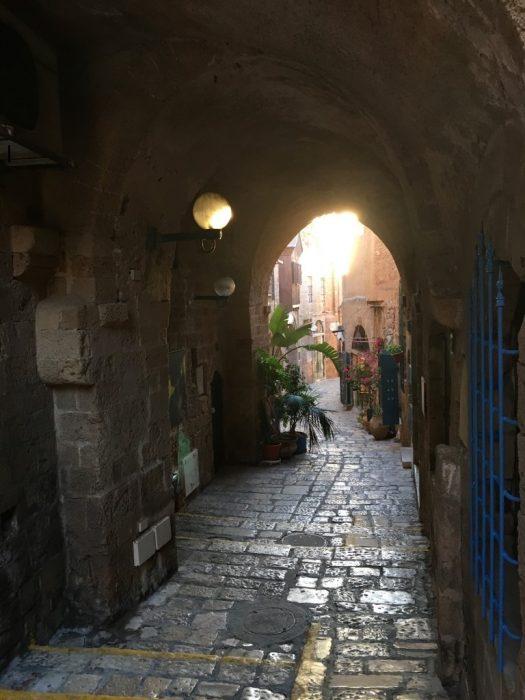Ruelas em Jaffa Antiga