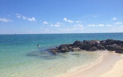 Key West - Águas cristalinas na praia de Fort Zachary Taylor Historic State Park
