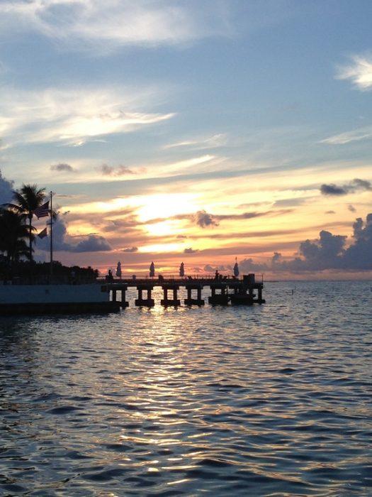 Nascer do sol na ilha