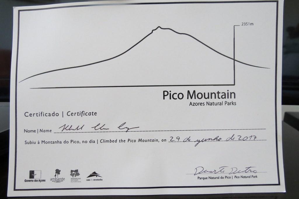 Certificado que simboliza a realização de um sonho após meses de planejamento