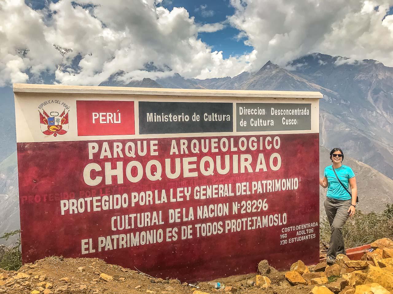 Inicio do Trekking em Capuliyoc que leva até Choquequirao