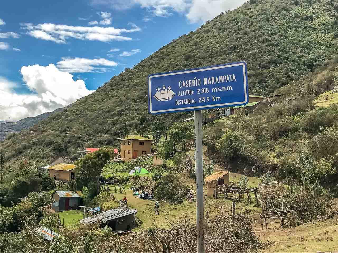 Acampamento de Marampata, o melhor do trekking até Choquequirao