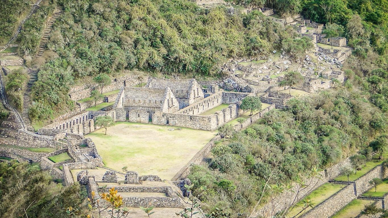 Ruínas de Choquequirao no Peru em perfeito estado