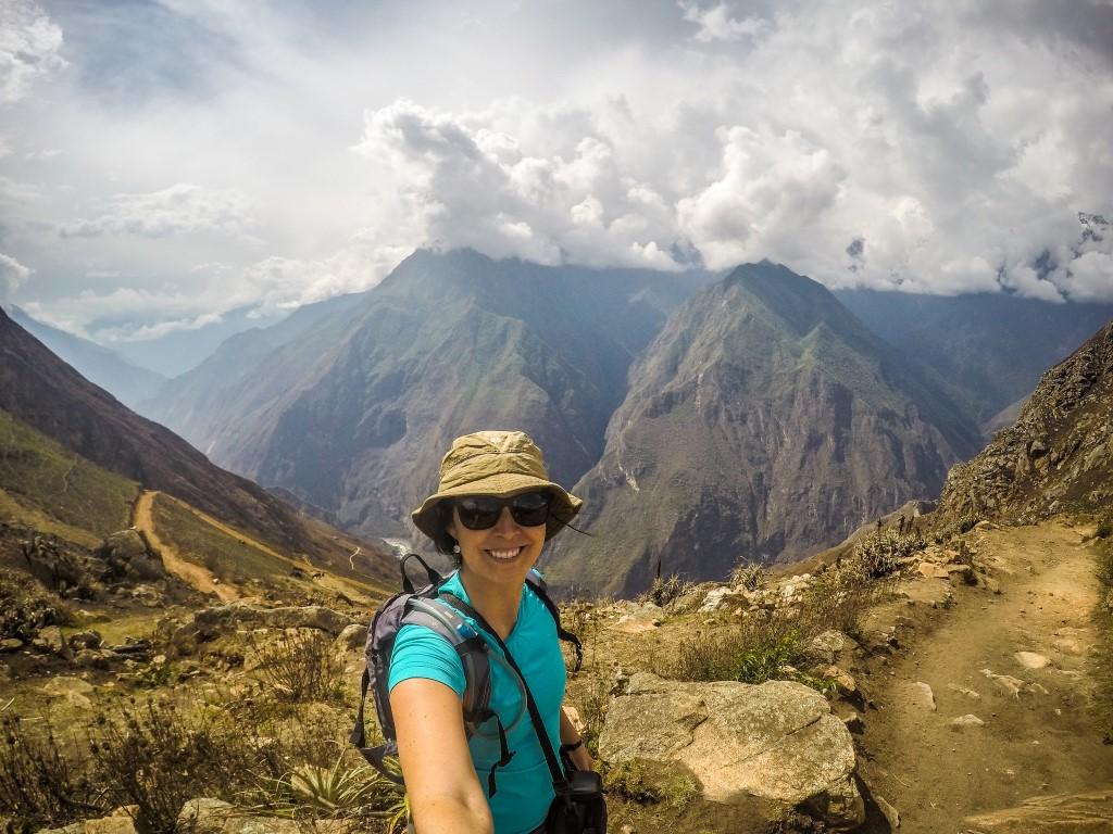 A cara de felicidade ao chegar em Choquequirao, no Peru