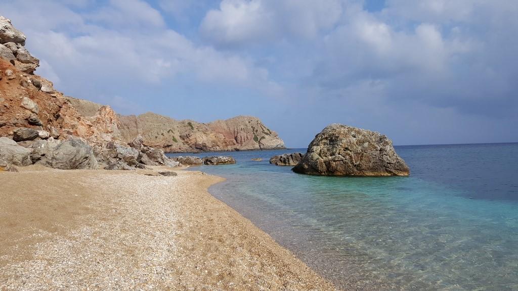 Praia de Paleochori. Como dizer adeus a essa ilha?