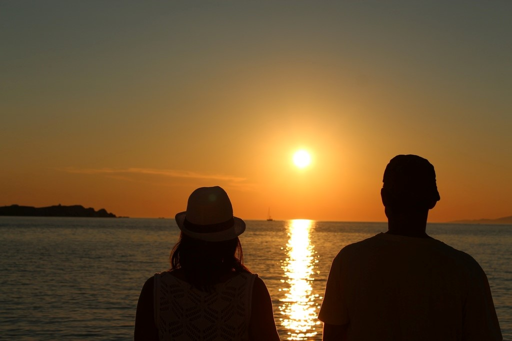 Esse pôr do sol da Grécia vai deixar saudades, esse da Megali Ammos Beach foi um dos melhores da viagem