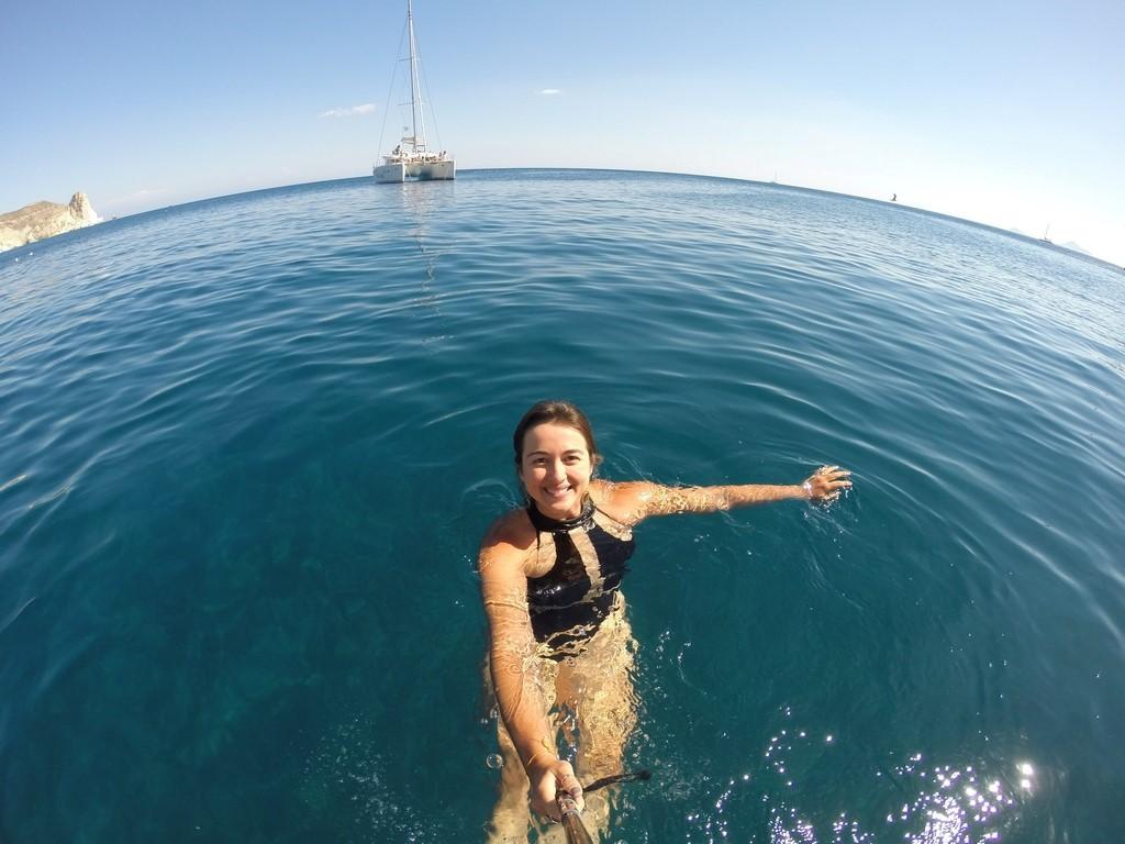 Mergulho nas águas da White Beach