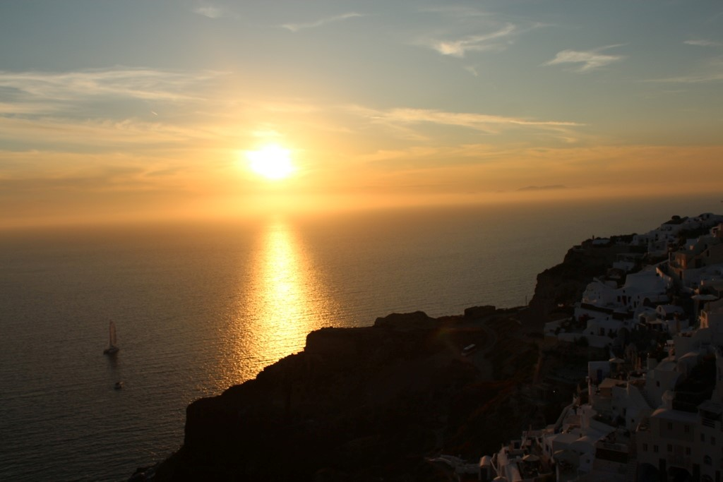 Pôr do sol em Oia, fechando a nossa visita à Santorini